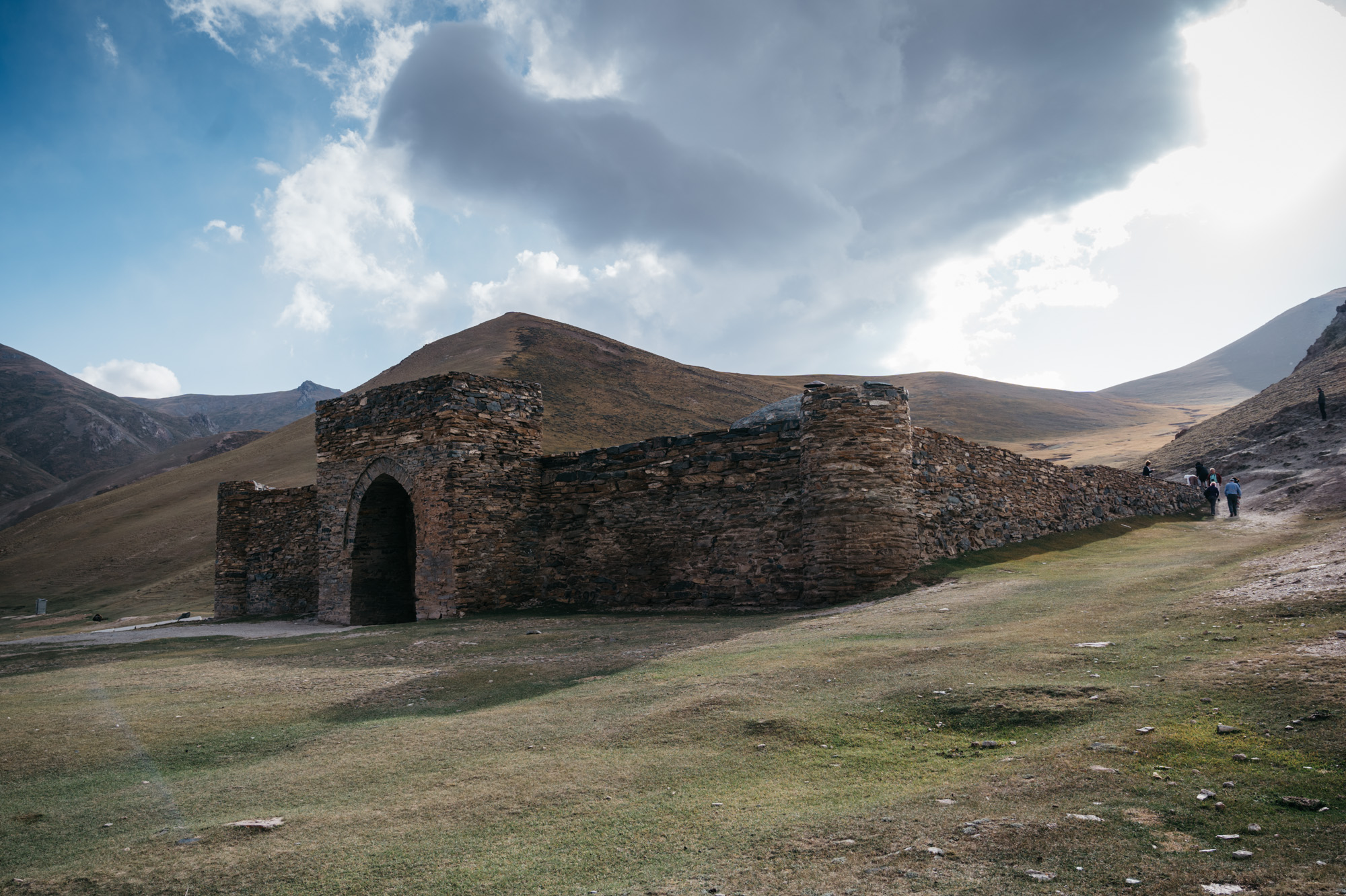 The front of the caravanserai.