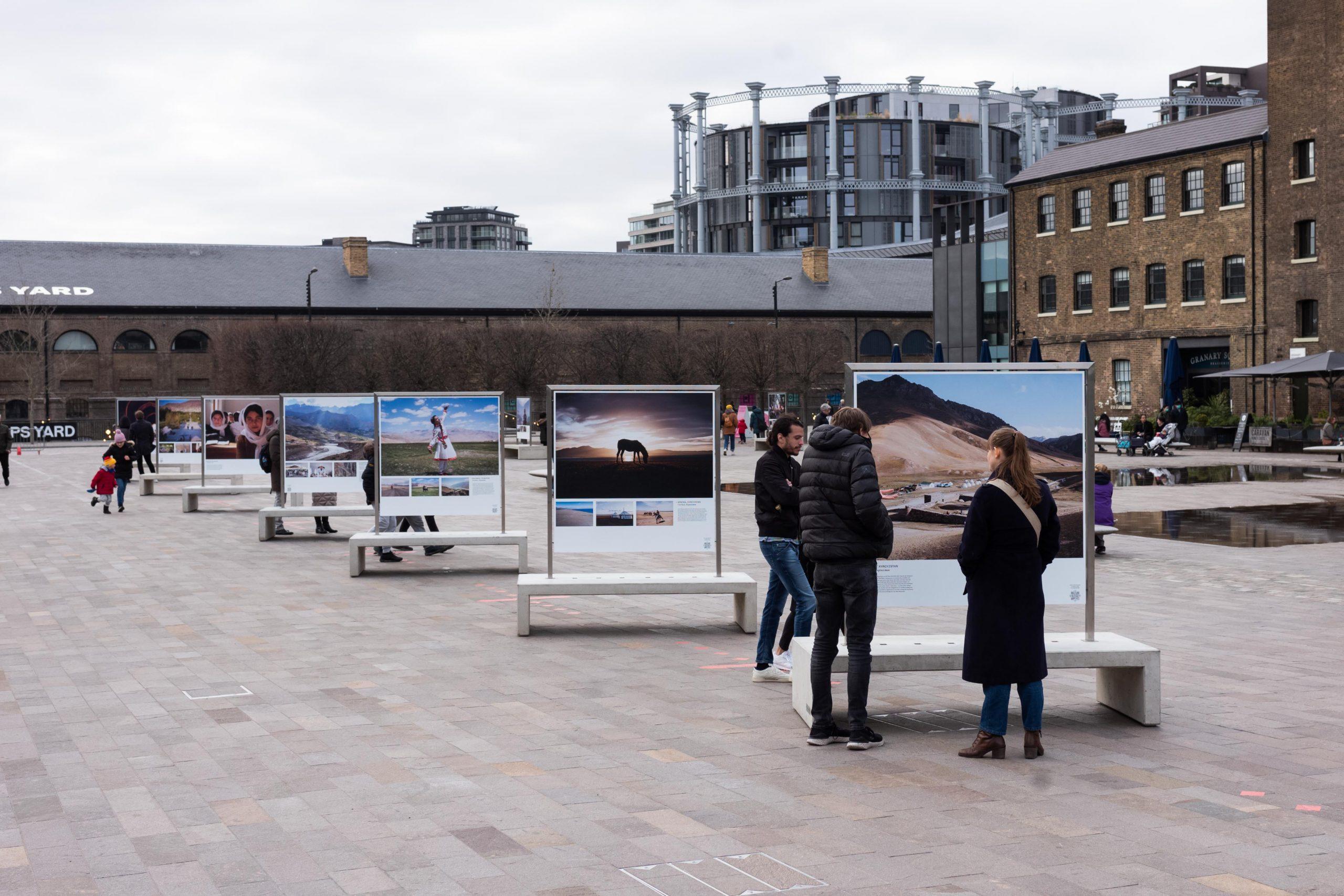 The exhibit in Granary Square, London.