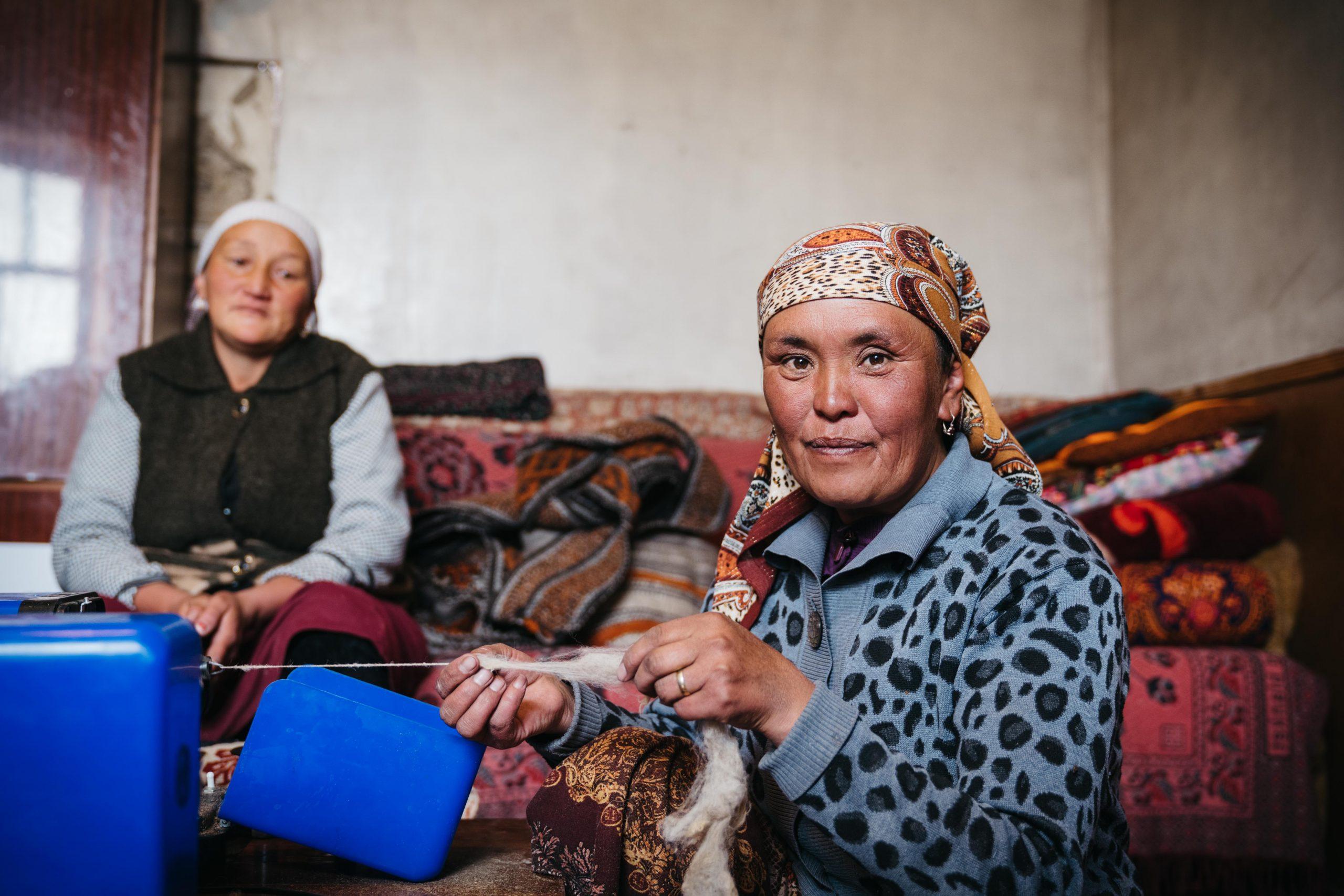An artisan in Tajikistan.