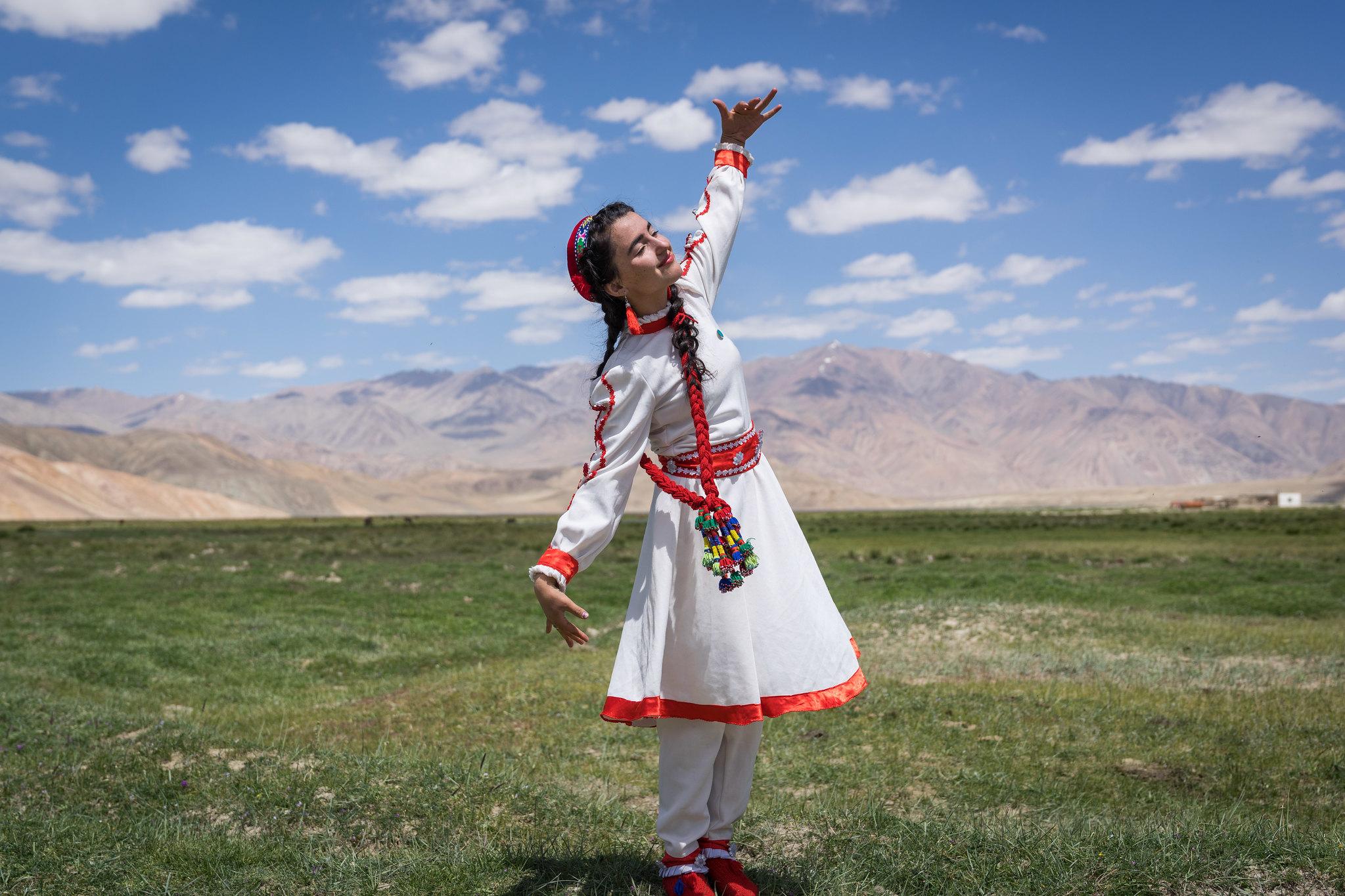 A dancer in Tajikistan.