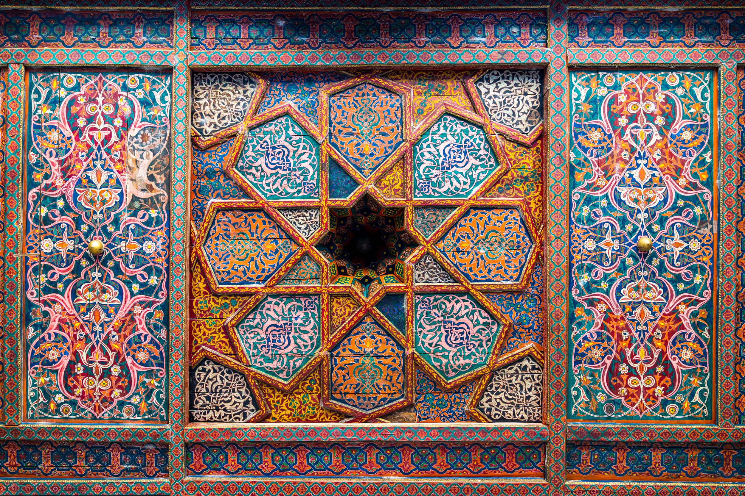 Ceilings detail from Khiva's Tash Hauli Palace.