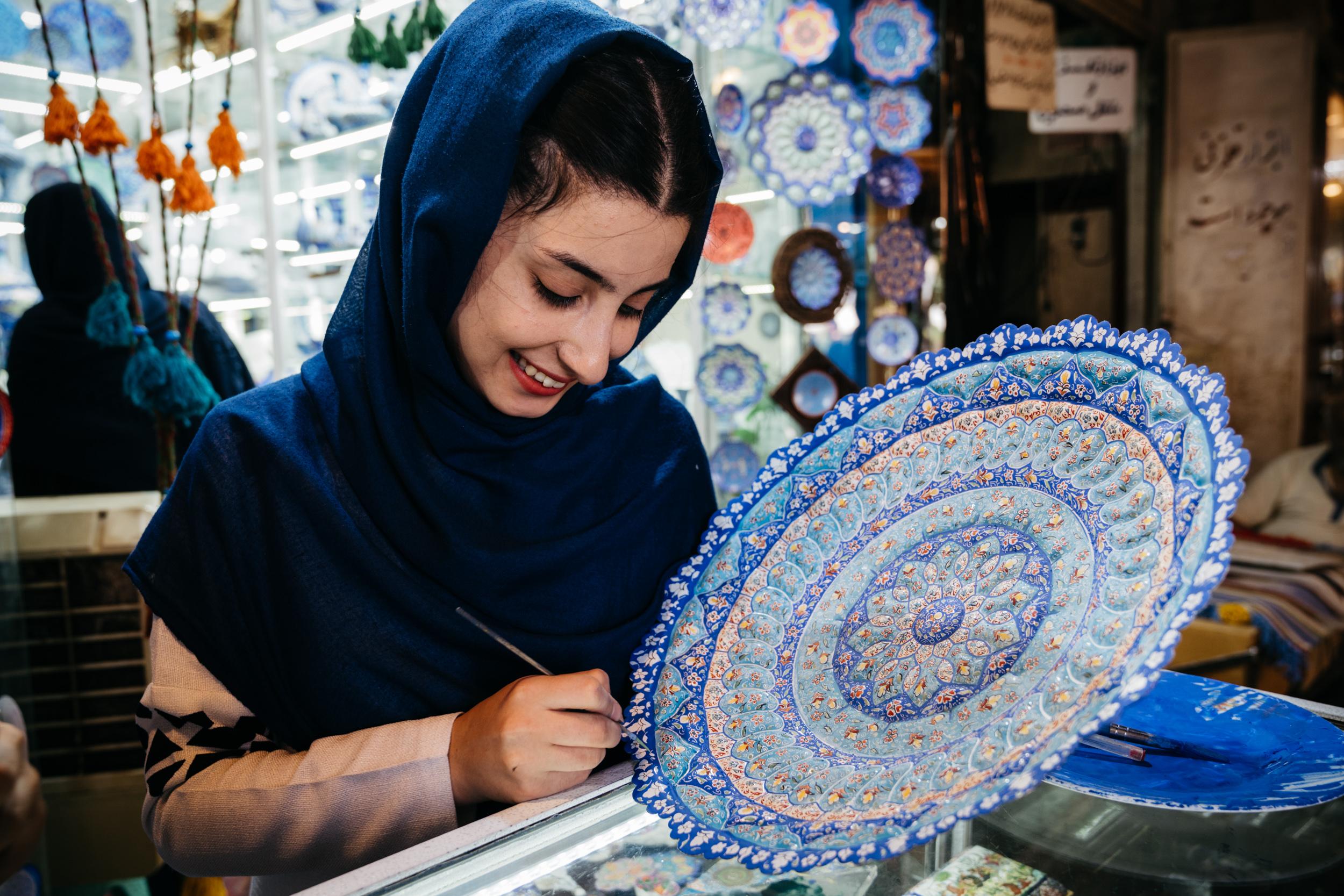 An artisan in Isfahan's Bazaar.