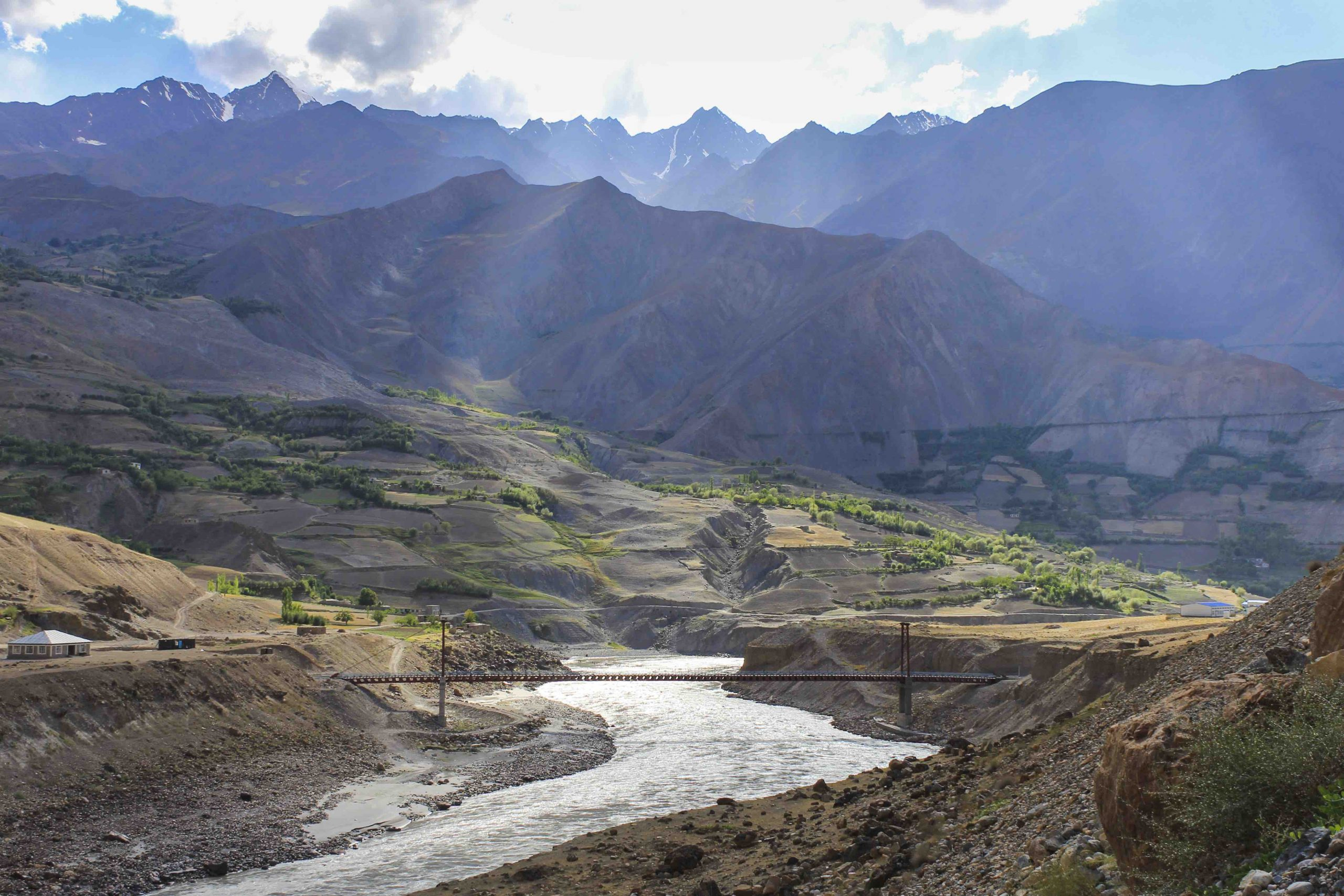 The border of Afghanistan and Tajikistan.